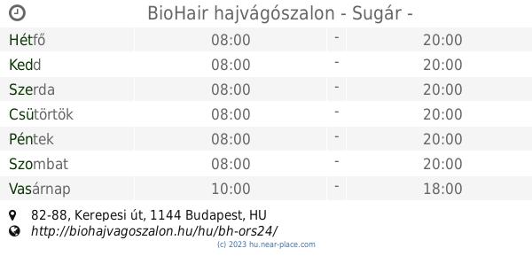 🕗 BioHair hajvágószalon - Sugár Budapest Nyitva tartás 4f3bbfd8e2